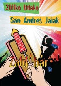 2011.ko Udako San Andres jaien kartela Zaldibarren